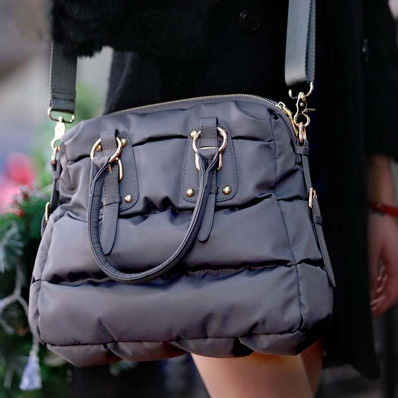 New Women Tote Bag Space Cotton Handbags Lady Winter Autumn Casual Crossbody Bags Down Feather Bale Top-handle Bag Bolsas Femme 2016 autumn and winter new casual waterproof nylon shell bag soft bag portable women shouid bags dd5023