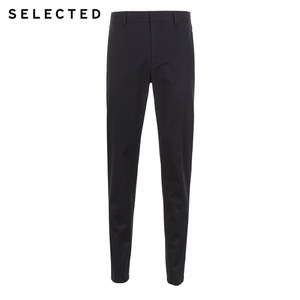Image 5 - SELECTED New Mens Cotton Micro elastic Simple Business Casual Pants S