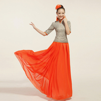 The Skirt Dancer Chinese Costumes Large Choral Service Erhu Pipa And Guzheng Folk Music Clothing Dress