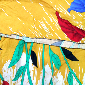 Image 5 - Moda Afrika Bayanlar Elbise Sarı Pamuk Baskı Rahat Afrika Dashiki Elbise