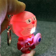 New LED Cosplay Minions The Avengers Alliance Captain America & A Dream LED toy Sound Keychains Action Figure Toys