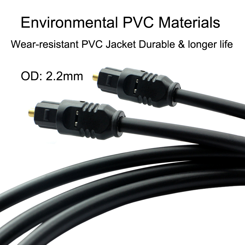 Цифровой оптический аудио кабель toslink Позолоченные SPDIF MD DVD для Xbox 360 Blu-Ray CD Xbox 360 PS4 1 м 1.5 м 8 м