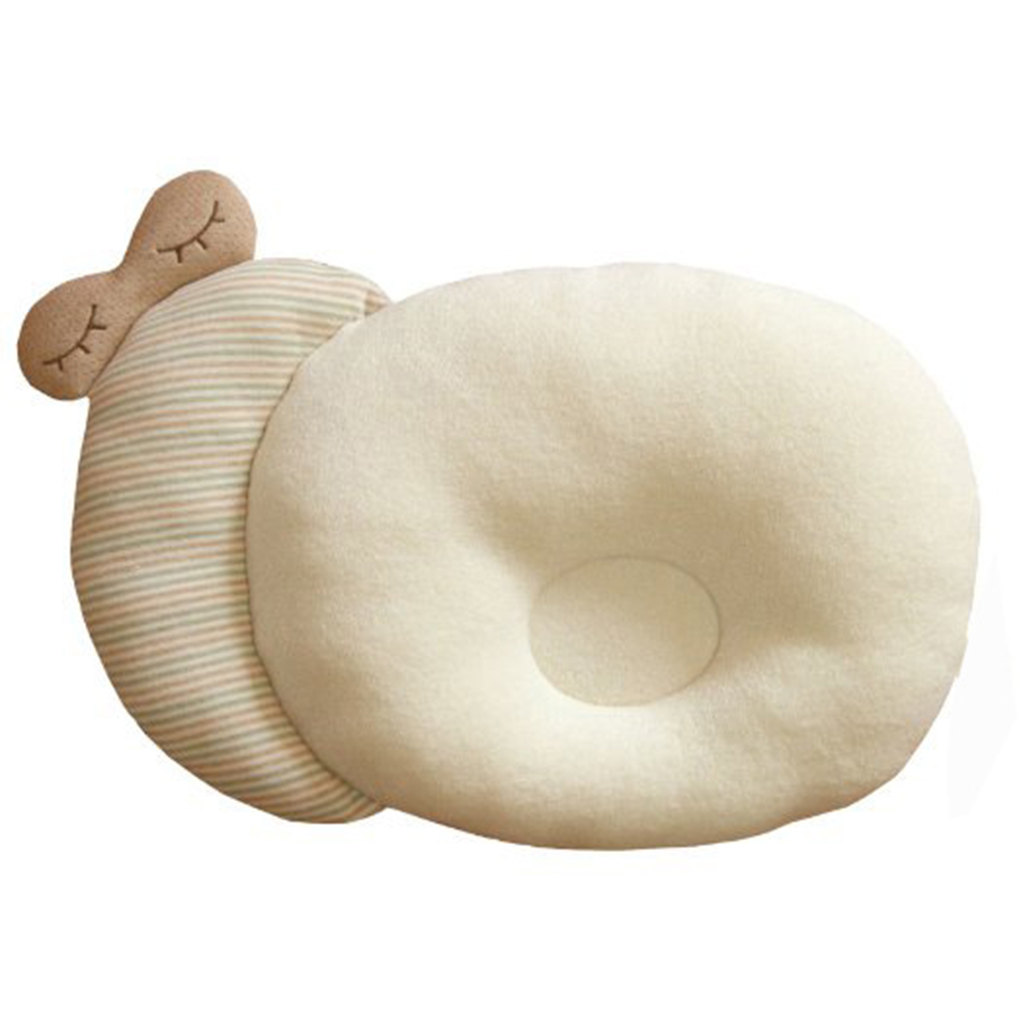 Cotton Baby Pillow Infants Shaping Pillow Cartoon Toddler Newborn Positioner Anti Roll Cushion Flat  Head Protection Pillow
