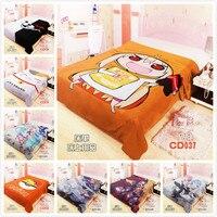 Anime Bed sheet Throw Blanket Bedding Coverlet crushed velour Bedsheets Kantai Collection DANGANRONPA Pokemon