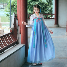Улучшение Тан платье и традиционное китайское с китайским элементом Фея вышитые ежедневно платье в стиле династии Хань