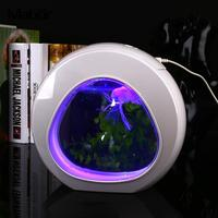 1 Set Electronic LED Creative Ornament Night Light Desktop Interesting Jellyfish Aquarium Lamp