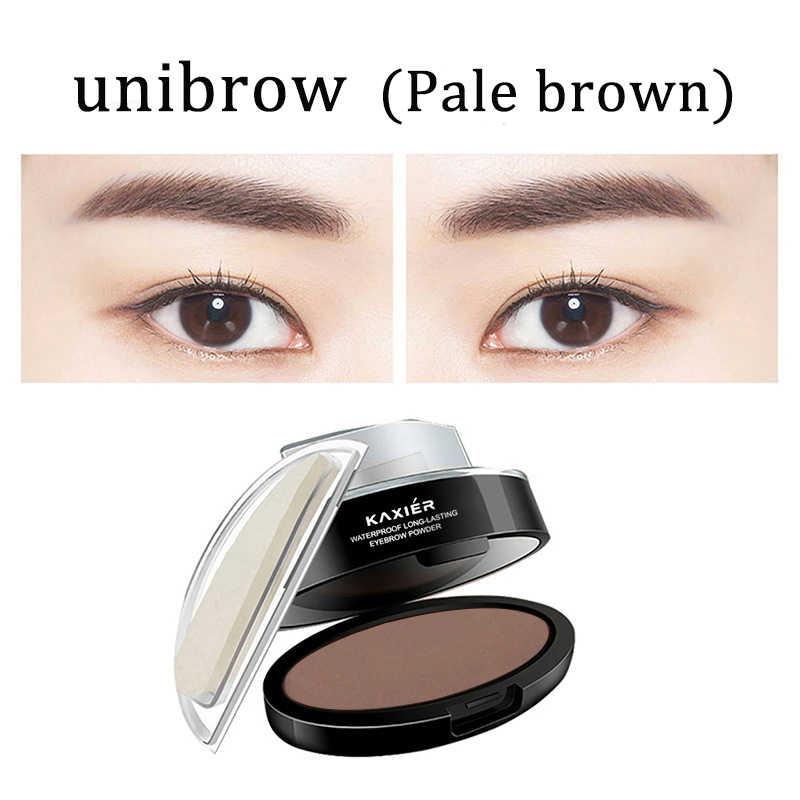 KAXIER 3 Color Beauty Eyebrow Stamp Set Brow Make Up Shape Seal Brush Natural Waterproof Eyebrows
