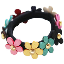 1PC New Flower hair band Braider Mix Candy Color Cute Girl Elastic Hair Ties Band Rope Braider Rubber band cheap Approx 3 7g