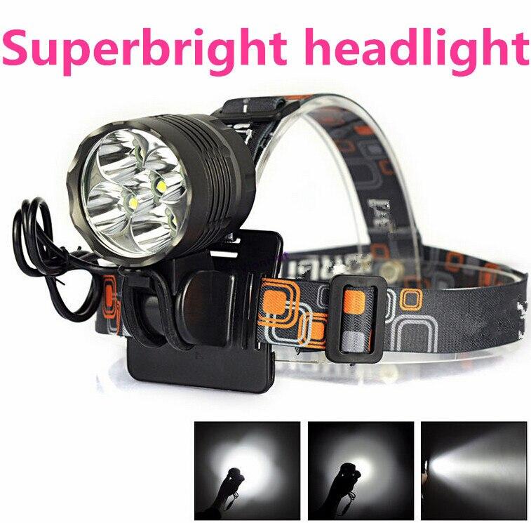 2-IN-1 Headlamp <font><b>10000</b></font> Lumen XML 5x T6 LED Bicycle Bike <font><b>Light</b></font> Lamp Camping lanterna Led Headlight For Cycling linterna frontal