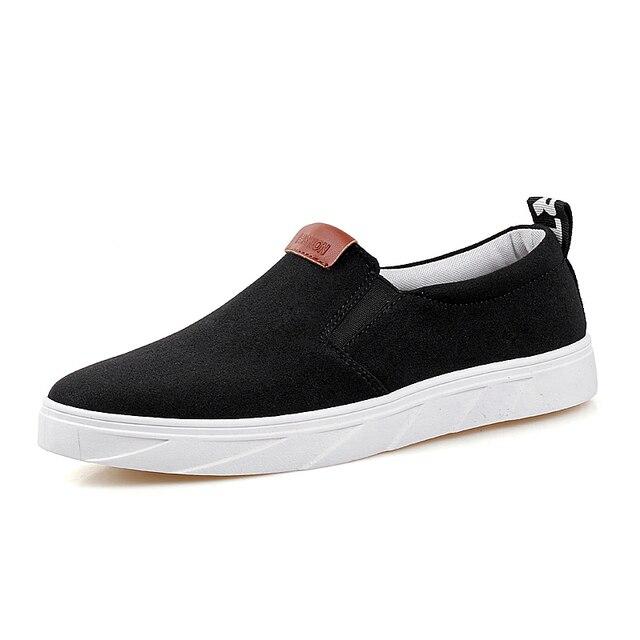 Superestrella de verano 2016 los hombres de Moda antideslizantes zapatos Planos de los hombres Zapatos de conducción Ocasionales zapatos alpargatas de Lona Ocio estudiante slipony