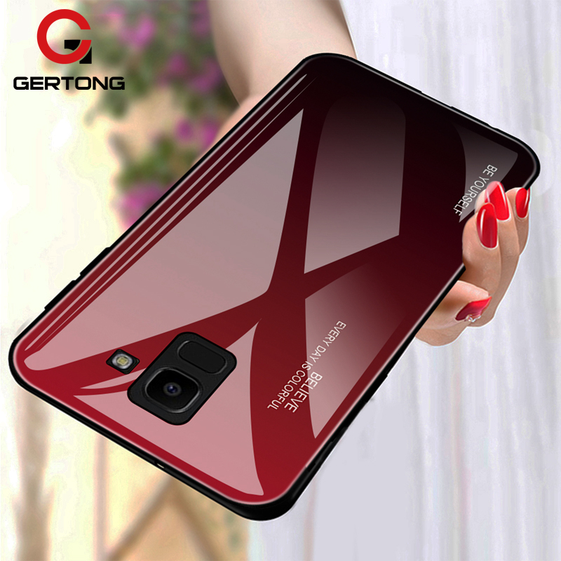 Tempered Glass <font><b>Case</b></font> For <font><b>Samsung</b></font> <font><b>Galaxy</b></font> J4 J6 Plus J8 2018 A6 <font><b>A8</b></font> Plus A7 2018 A5 2017 Luxury <font><b>Phone</b></font> Cover Bags Anti-scratch <font><b>Cases</b></font> image
