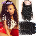 360 Lace Frontal With Bundle 2/3p Malaysian Water Wave Human Hair 360 Lace Frontal Closure With Bundles,360 Frontal With Bundles