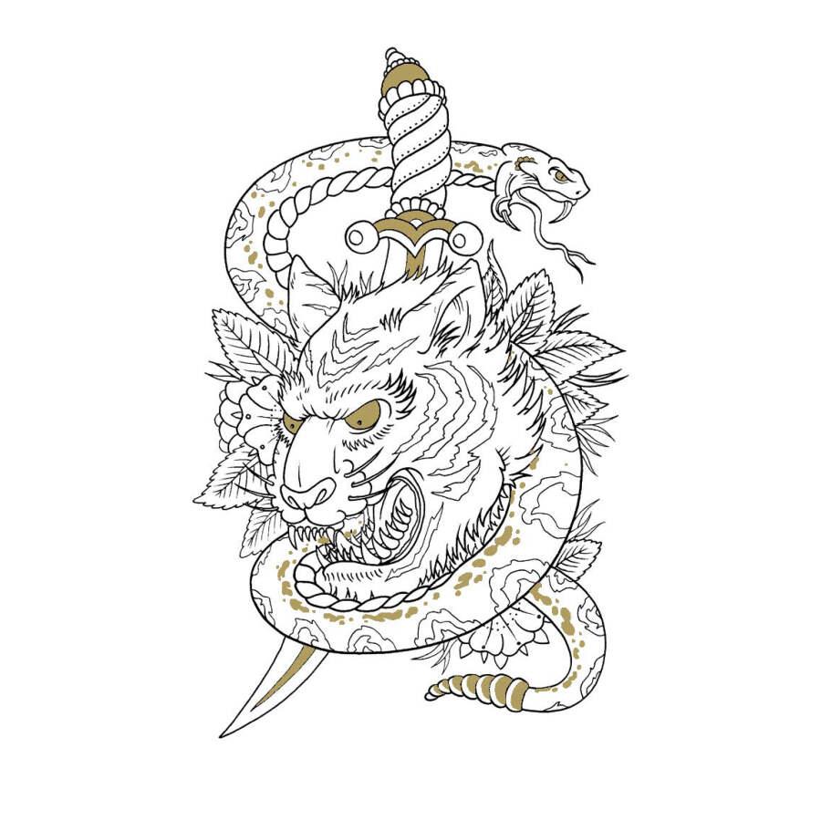2566 El Libro Para Colorear Tatuajes Para Adultos Alivia El Estrés Mata El Tiempo Pintura Dibujo Libros Para Colorear Antiestrés Libro Colorear