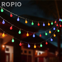 ROPIO 10M 100 LED String Light Multicolor 220V Strap Lamp Home Garden Christmas Tree Party Outdoor Holiday Fairy Decoration