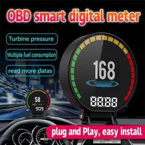 Image 3 - OBDHUD kopf up display Neue Auto Diagnose Werkzeuge OBD2 Auto Reise Auf board Computer Tacho Display Wasser Temperatur RPM
