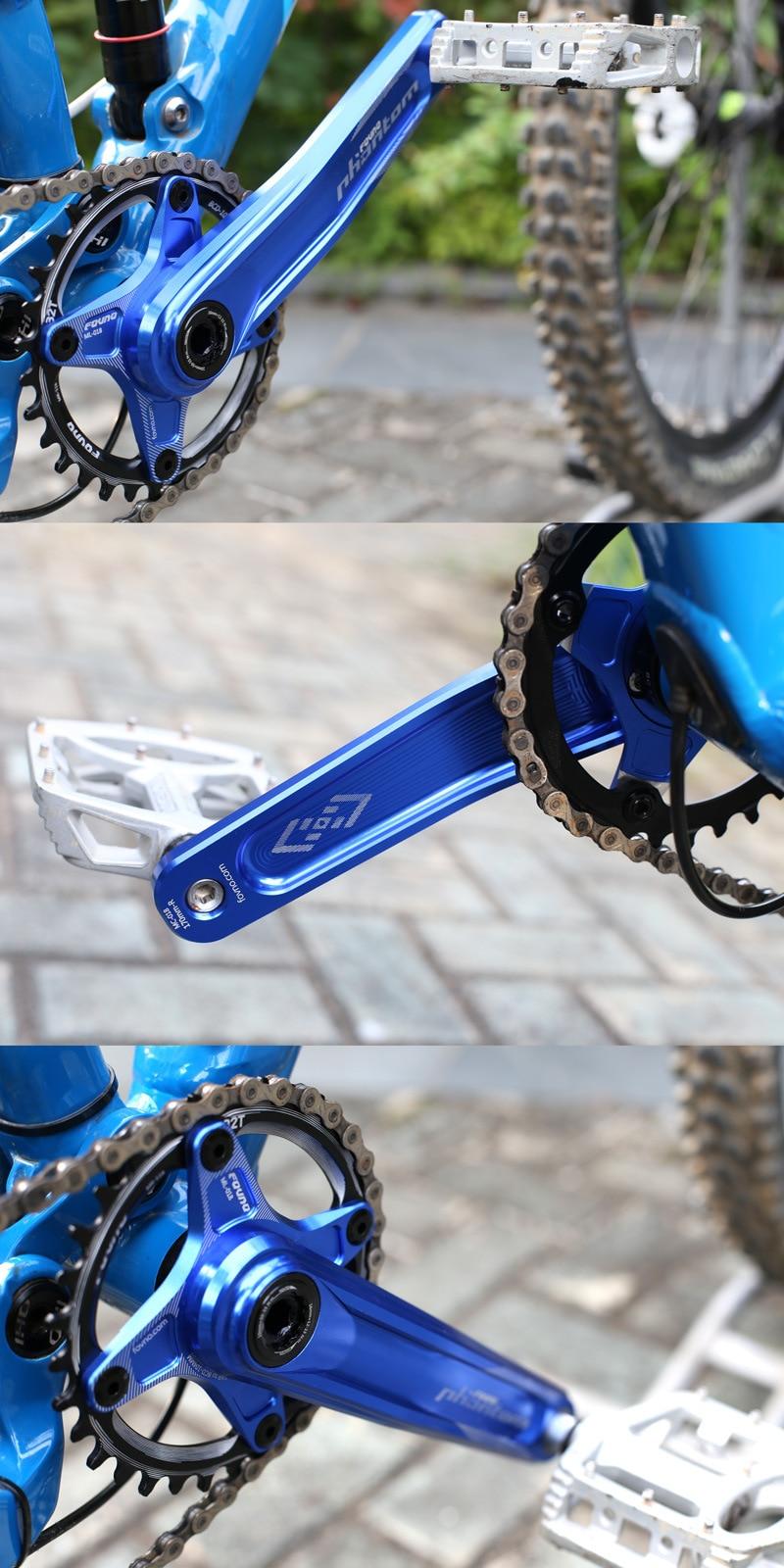 Ultralight fovno mountain bike bicicleta manivela roda
