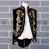 Королевский смокинг мужские костюмы конструкции masculino Homme TERNO Сценические костюмы для певцов мужчины блесток Блейзер Танцы одежда куртка че