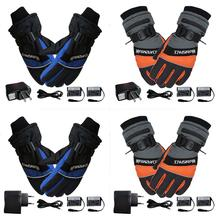 New Winter Ski Outdoor Work USB Hand Warmer Electric Thermal Gloves Heated Fingers Warm Hands Gloves Cycling Motorcycle Bicycle цена