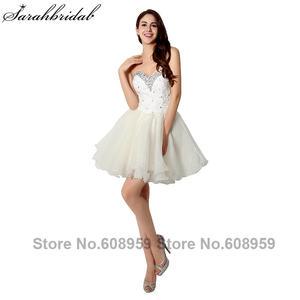 f7cc30f416a sarahbridal Crystals Prom Dresses Elegant Short