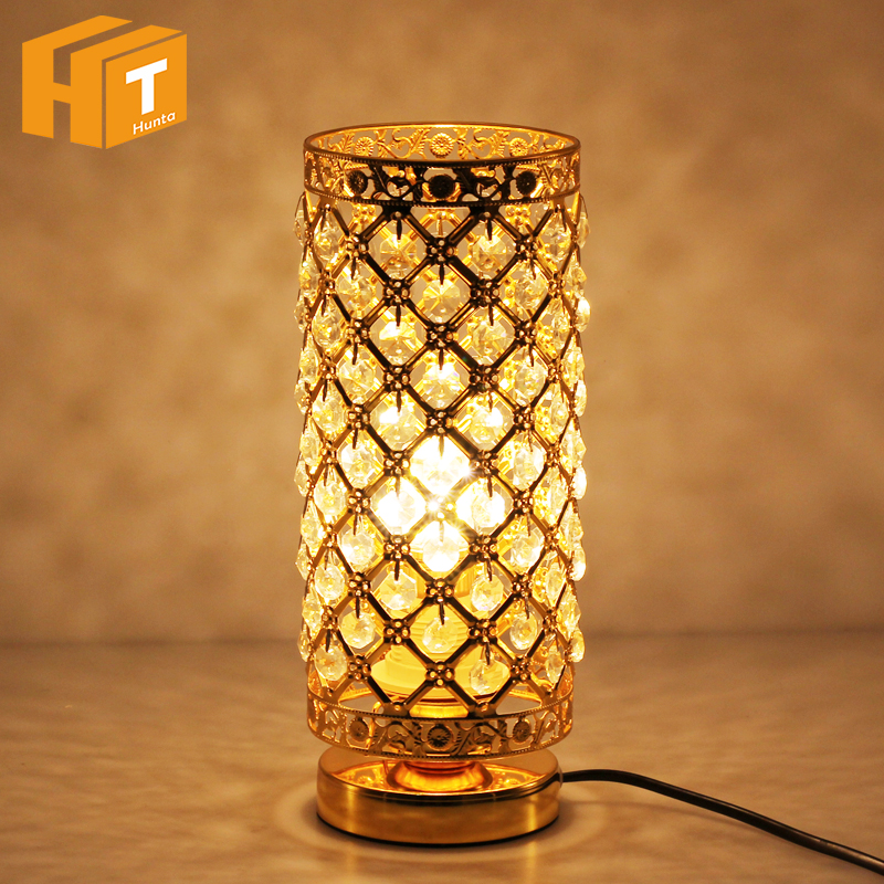 Crystal Table Lamp Modern Beauty Eyeshield Desk Lamp For Home Bedroom Living Room Decoration Bedside Lamp office modern work study desk lamp eyeshield desk lamp bedroom bedside table lamp study room led eyeshield reading light lamps