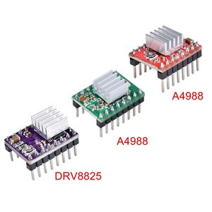 3D Printer Parts Stepstick A4988 DRV8825 Stepper Motor Driver Module With Heatsink Reprap Ramps 1.4/1.5/1.6 Control Board MKS(China)