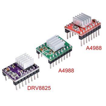 Części drukarki 3D Stepstick A4988 DRV8825 moduł sterownika silnika krokowego z radiatorem rampy Reprap 1 4 1 5 1 6 płyta sterowania MKS tanie i dobre opinie A4988 DRV8825 BIQU A4988 DRV8825 Stepper Motor Driver Green Red Purple PCB Board Micro Stepper Motor 3D Printer Parts MKS Gen V1 4 MKS Gen L Ramps 1 6 Ramps 1 5 Ramps 1 4