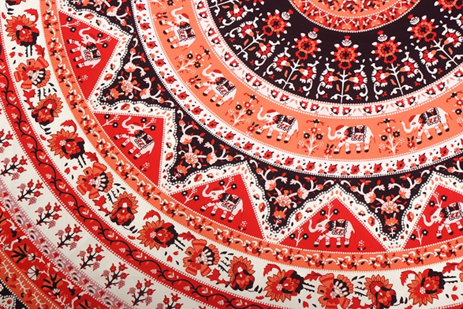 Image 5 - CAMMITEVER Thin Tapestry Beach Towel Beach Big Round Red National Style Bohemia Printed Toalla Playa Serviette de Plage-in Tapestry from Home & Garden