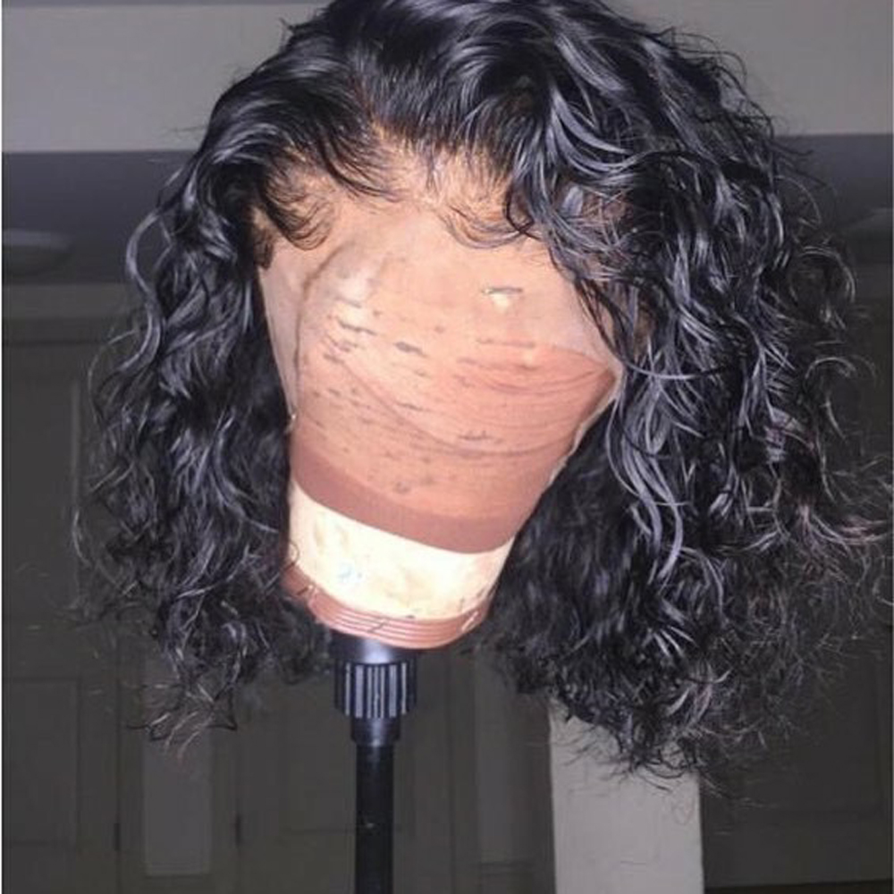 Deep Curly Brazilian Hair Natural Wig Short Human Hair Wigs Pre Plucked With Baby Hair Bob
