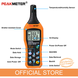 Image 4 - Official PEAKMETER PM6508 Digital Temperature Humidity Hygrometer Thermometer Weather Station
