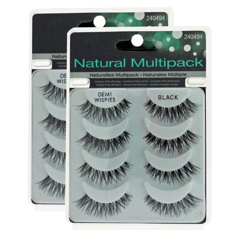 HUAMIANLI 8 Pairs Natural Cross Soft Long Flase Eyelashes Fake Eye Lashes Cosmetic Extension Tools Pack of 2