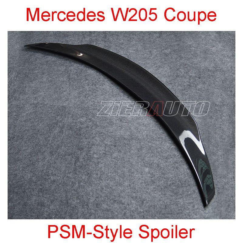 Becquet en Fiber de carbone pour Mercedes W205 coupé C63 AMG psm-style mercedes-benz classe C coupé 2015-2017Carbon Kit de carrosserie d'aile de Style
