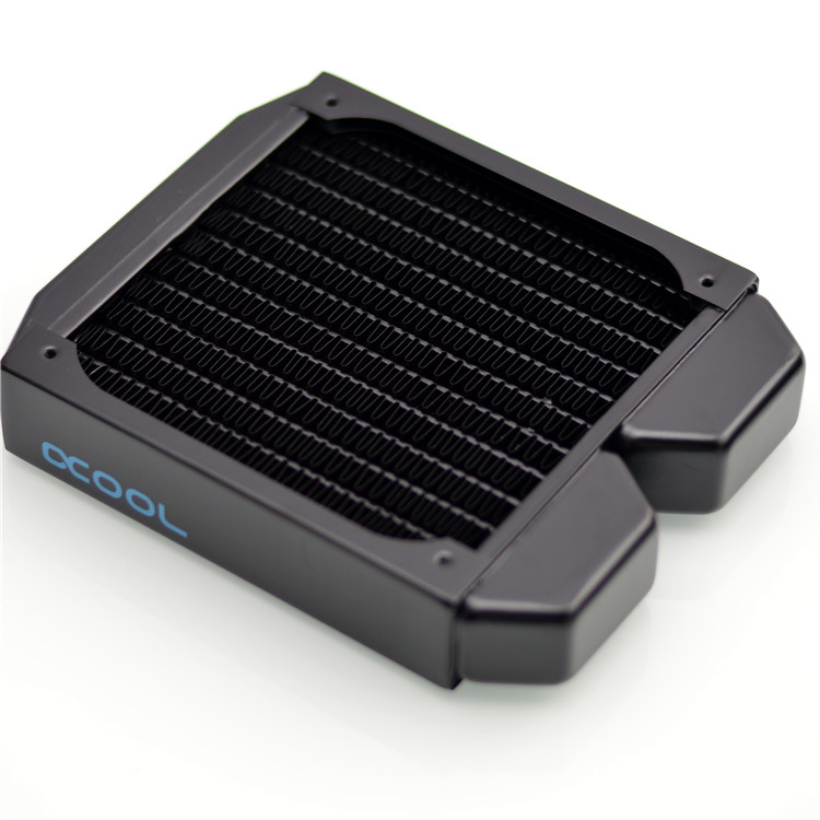 Alphacool ST30 WaterCooling computer case copper 120mm radiator black suit 12cm fans 30mm thickness
