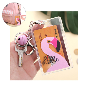 1PC New Kawaii Unicorn Flamingos Worker BUS & ID Card Holder Case Pouch BAG Multicolor Cartoon Holder Case Travel For Woman Man