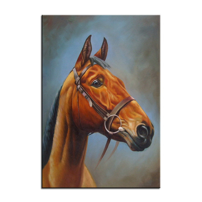 Wall Art Decor Painting Golden Horse S Head Digital Oil Print Nice For Picture No Frame In Calligraphy From