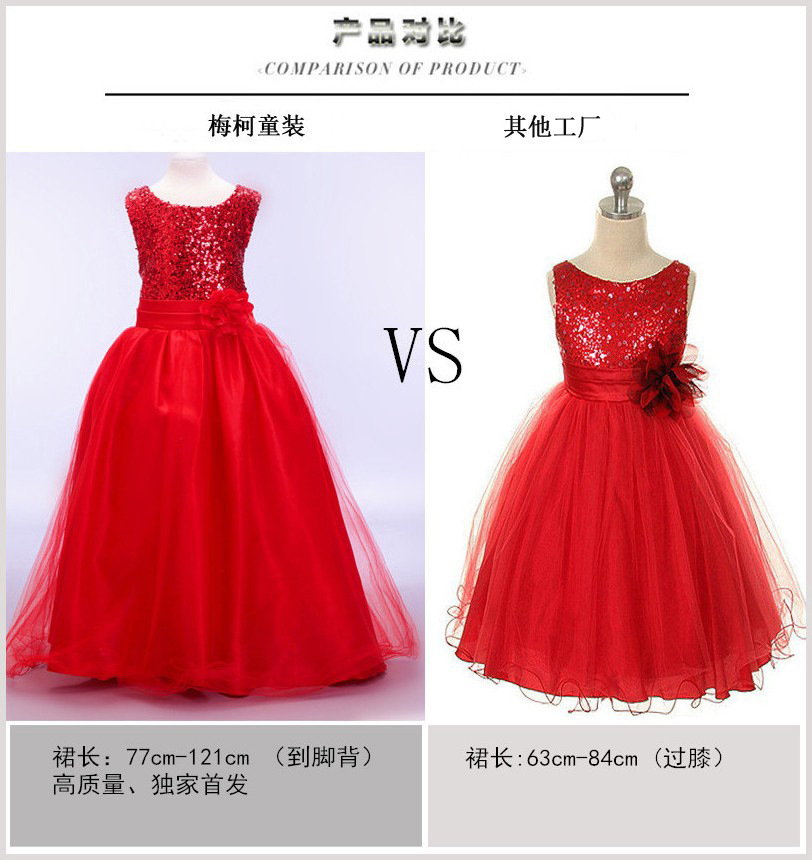 Girls' Clothing (2-16 Years) Girls Age 4-6 Years H&m Red Sparkly Party Dress