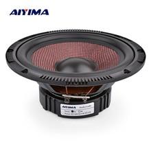 AIYIMA 6,5 дюймов аудио автомобильный СЧ-динамик 4 8 Ом 60 Вт высокой мощности из стекловолокна музыкальный НЧ-динамик Громкоговоритель DIY звуковая система
