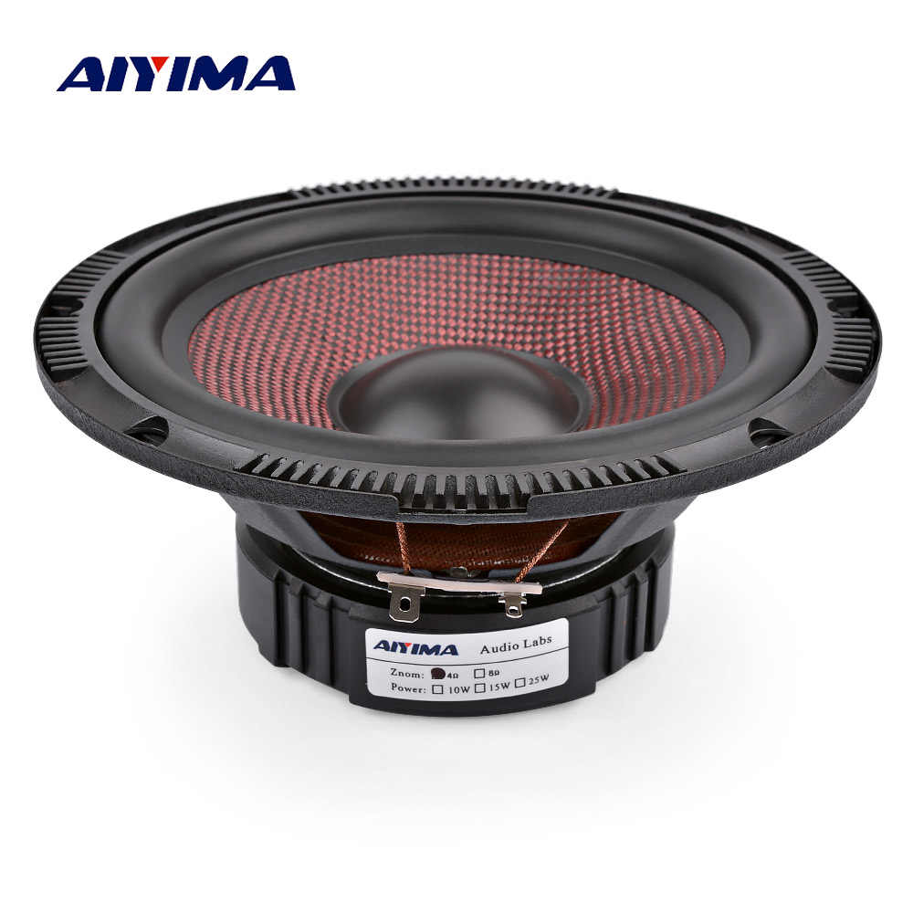 AIYIMA 6.5 Inch Audio Car Midrange Bass Speakers 4 Ohm 60 W High Power Glass Fiber Music Woofer Loudspeaker DIY Sound System