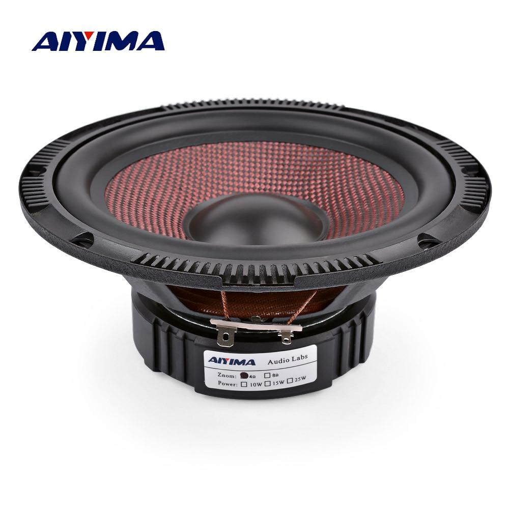 AIYIMA 6,5 Zoll Audio Auto Mitten Bass Lautsprecher 4 8 Ohm 60 W High Power Glas Faser Musik Woofer Lautsprecher DIY Sound System