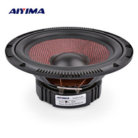 AIYIMA 6.5 Inch Audio Car Midrange Bass Speakers 4 8 Ohm 60 W High Power Glass Fiber Music Woofer Loudspeaker DIY Sound System