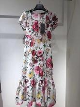 Floral Mermaid Dresses For Women 2019 Summer Flowers Blooming Square Collar Short Sleeve Elegant Chiffon Dress refreshing scoop collar short sleeve floral print dress for women