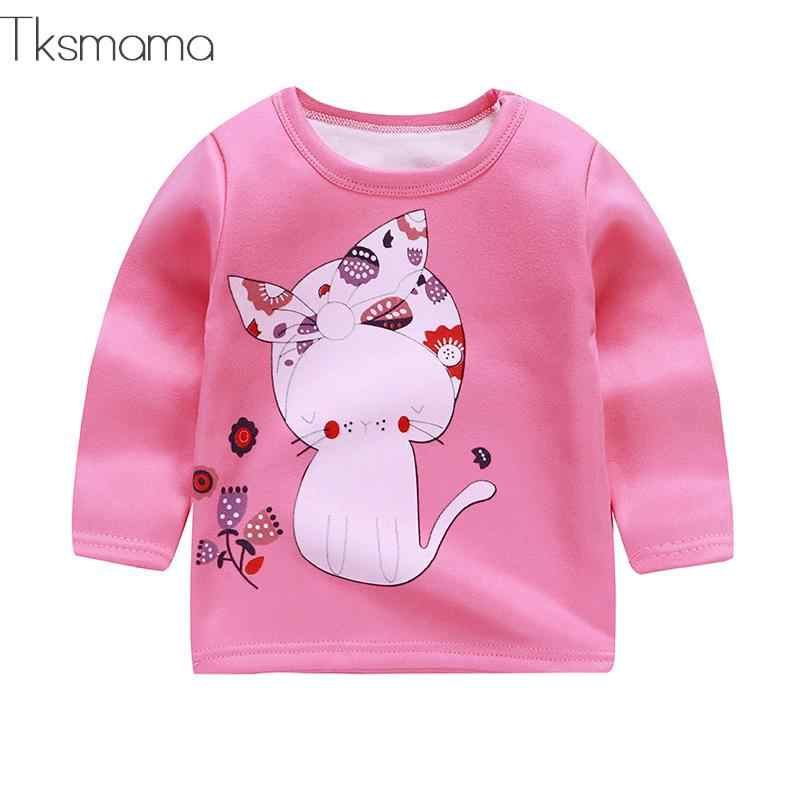 Cartoon Style Baby Kids Hoodies Baby Boy Casual Undercoat Baby Girl Cartoon Style Sweater