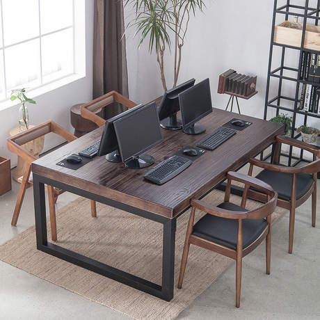 Conference Tables Office Furniture Commercial Furniture Solid Wood+steel  Office Table 160*60*