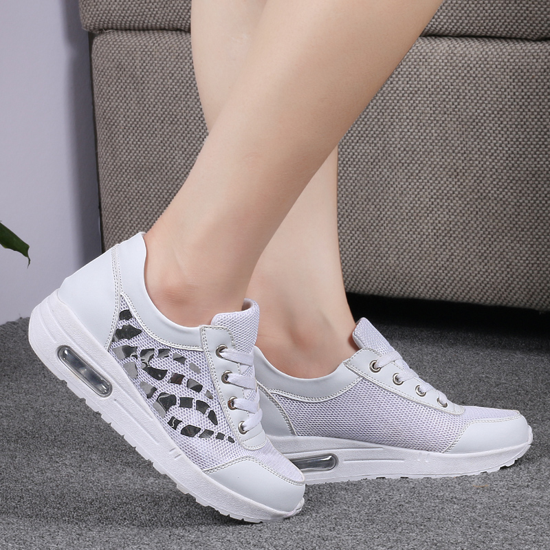 Trainers Women Casual Shoes Summer Style Outdoor Breathable Low Top Shoes Woman Flat Heels Sport Ladies Shoes Size 35-40 ZD71 (21)