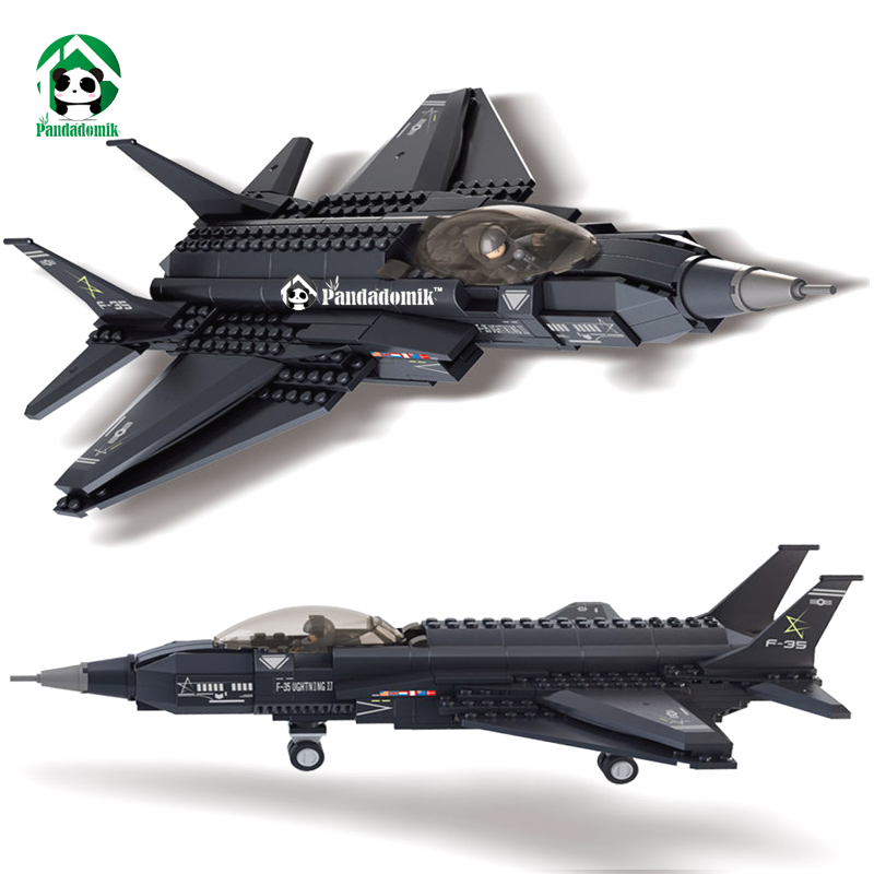 Sluban F-35 Lightning II Fighter Plane Building Blocks Set Military Army Toy Gift Models & Building Toys Bricks Compatible lepin new lvpai fashion 2017 luxury rhinestone watches women stainless steel quartz watch for ladies dress watch gold bracelet clock