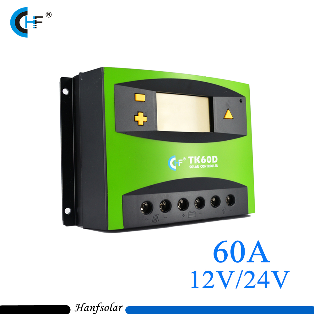 High efficiency 60A 12V/24V Intelligent PWM Solar Charge Controller LCD Display Solar controller for Solar Energy System 12v 24v 40a mppt pwm solar regulator with lcd display usb intelligent streetlight three time solar charge controller y solar