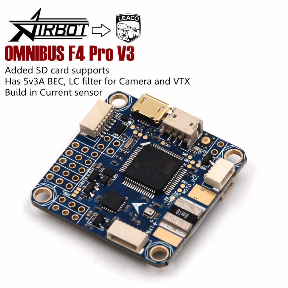 FLIP 32 F4 OMNIBUS V3 PRO Flight Controller Board W/ Baro Built-in OSD For RC FPV Racing Cross Drone Quadcopter