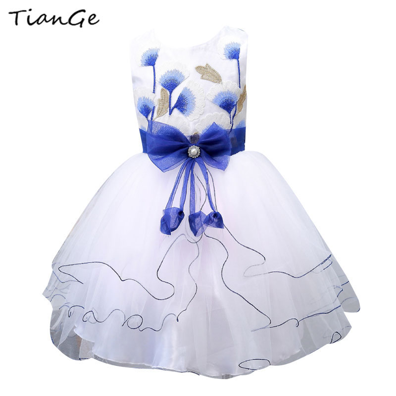 3-10Y Kids Girls Sleeveless Dress Summer Flower Girls Clothes Baby Girl Butterfly Princess Dresses for Girl Children Clothing купить