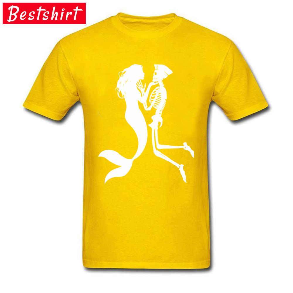 คลาสสิก T เสื้อบุรุษแบรนด์หรูขนาดใหญ่เสื้อ Mermaid และ Navy ทหารโครงกระดูก Lethal Love Hip Hop Dance เสื้อยืดใหม่
