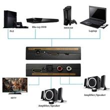 1080P HDMI audio extractor + Optical TOSLINK SPDIF +L/R Audio Extractor Converter HDMI Audio Splitter