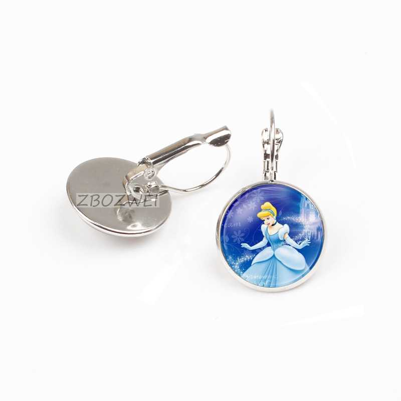 YAUTION 2018 Brand Ladies The earring Jewelry earring Crystal Cabochon Princess Elsa Anna Snow Queen earring For Girls gift